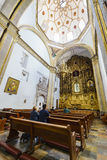 San Felipe de Jesus Satelite. Mexico City, FEB 19: The inner view of the historical and beautiful San Felipe de Jesus Satelite on FEB 19, 2017 at Mexico City Stock Images