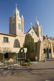 San Felipe de Neri Catholic Church is on the National and State registers of historic places, is located in the Old Town of Albuqu Royalty Free Stock Photo