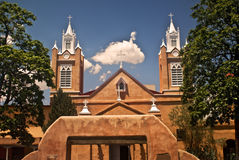 San Felipe de Neri Church. In historic Old Town Plaza in Albuquerque, New Mexico royalty free stock photos