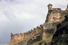 San Felipe del Morro Castle Walls Stockfoto