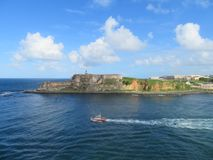 San Felipe Del Morro Fort w San Juan Puerto Rico Obraz Stock