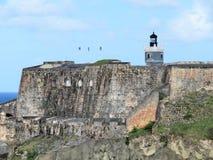San Felipe Del Morro Fort w San Juan Puerto Rico Obrazy Stock