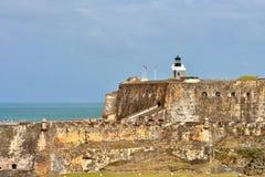 San Felipe Del Morro fort w San Juan, Puerto Rico- Marzec 9, 2017-School dzieci odwiedza historycznego San Felipe Del Morro fort Obrazy Stock