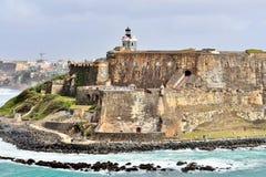 San Felipe Del Morro fort w San Juan, Puerto Rico- Marzec 9, 2017-School dzieci odwiedza historycznego San Felipe Del Morro fort Zdjęcia Royalty Free