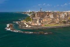 San Felipe del Morro Fortress, gamla San Juan, Puerto Rico Royaltyfri Fotografi