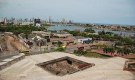 San Felipe fortress overlooking Cartagena Stock Photography