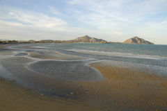 San Felipe at low tide Royalty Free Stock Photo