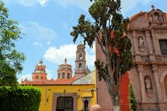 San Felipe Neri church, Miguel De Allende, Mexico Royalty Free Stock Photos