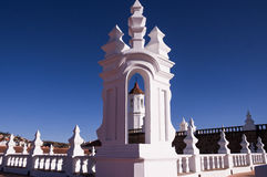San Felipe Neri church in Sucre. San Felipe Neri monastery is a beautiful example of Sucre`s white colonial architecture Stock Photography