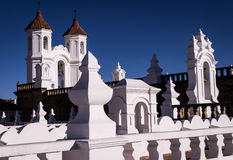 San Felipe Neri church in Sucre. San Felipe Neri monastery is a beautiful example of Sucre`s white colonial architecture Royalty Free Stock Photos