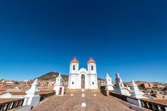 San Felipe Neri Convent. View of the roof of the San Felipe Neri convent in Sucre, Bolivia Stock Image