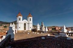 San Felipe Neri monastery in Sucre Bolivia royalty free stock image