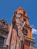 San Felipe Neri, Templo del Oratorio, San Miguel de Allende. Statue of San Felipe Neri in the temple of Oratorio in San Miguel de Allende, Mexico royalty free stock photos