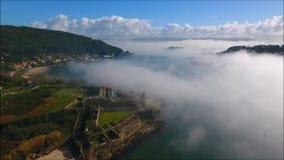 San- Felipe` s Schloss Brummen-Anblick Ferrol Ein Coruña stock video