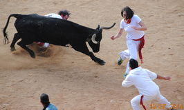 San Fermin, Pamplona, Spanien Stockfoto