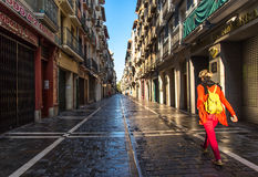 San Fermin streets Stock Photos