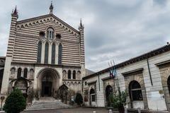 San Fermo kościół w Verona, Włochy Obrazy Royalty Free
