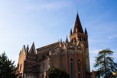 The San Fermo Maggiore church in Verona chiesa di San Fermo Maggiore, Italy - Image royalty free stock images