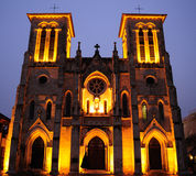 San Fernando Cathedral. Shot of San Fernando Cathedral in downtown San Antonio, TX at dusk, It is considered to be the oldest cathedral in the US Royalty Free Stock Images