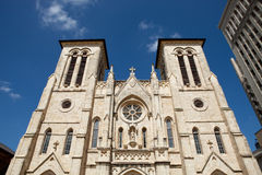 San Fernando Cathedral. In San Antonio Texas Stock Photo