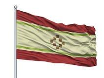 San Fernando Del Valle De Catamarca City Flag en la asta de bandera, la Argentina, aislada en el fondo blanco ilustración del vector