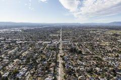 San Fernando Los Angeles bezładnego skupiska Dolinna antena Obraz Royalty Free