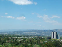 San Fernando Sky. View of San Fernando Valley in California on bright spring day Stock Photos
