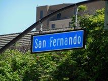 San Fernando Street Signage images stock
