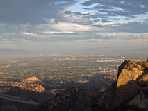 San Fernando Valley. Stoney Point and Los Angeles's San Fernando Valley on a stormy afternoon Royalty Free Stock Photos