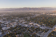 San Fernando Valley Aerial View Towards Lankershim and Cahuenga Stock Photography