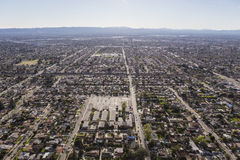 San Fernando Valley Afternoon Haze Aerial royalty-vrije stock afbeeldingen