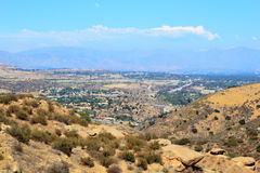 San Fernando Valley. East overlook of San Fernando Valley from Rocky Peak Trails, Santa Susana Mountains, CA Stock Photos