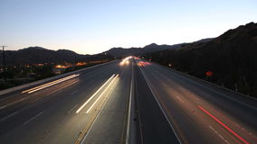 San Fernando Valley Freeway Time Lapse. Fast traffic on the 118 Freeway in the San Fernando Valley area of Los Angeles, California stock footage