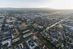 San Fernando Valley Late Afternoon Los Angeles Aerial stock foto