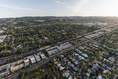 San Fernando Valley Los Angeles Aerial Images stock