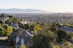 San Fernando Valley in Los Angeles. Hilltop view from the west edge of the San Fernando Valley in Los Angeles, California Royalty Free Stock Image