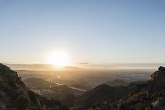 San Fernando Valley Los Angeles Sunnrise Immagine Stock Libera da Diritti