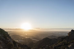 San Fernando Valley Los Angeles Sunnrise Royalty Free Stock Image