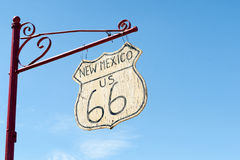 San Fidel, New Mexico rustic sign Route 66. Royalty Free Stock Photography