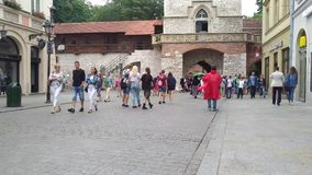 San Florian Gate - Krakow - Poland stock video footage