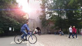 San Florian Gate - Krakow - Poland stock video