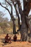 San folk i Namibia arkivfoton
