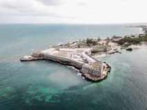 San forte Sebastian Sao Sebastiao, isola Ilha de Mocambique, baia di Mossuril della costa dell'Oceano Indiano, provincia del Moza fotografie stock