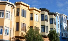 San Fran condos Royalty Free Stock Photography