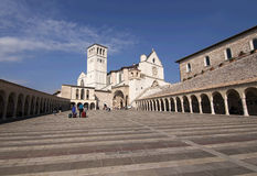 San Francesco Abbey in Assisi. Scenic view of San Francesco Abbey in Assisi, Italy stock photos