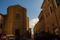 San Francesco Church in Mondavio. The ancient San Francesco`s Church in Mondavio Italy Marche Stock Images
