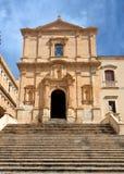 San Francesco Church Noto, Sicilië, Italië Stock Fotografie