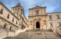 San Francesco Church, Noto, Sicilien, Italien Arkivbild
