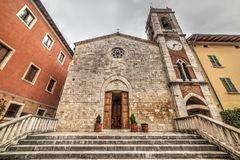 San Francesco church. In San Quirico d`Orcia, Tuscany Royalty Free Stock Images