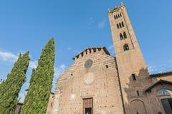 San Francesco, a church in Siena, Tuscany, Italy. Stock Photo